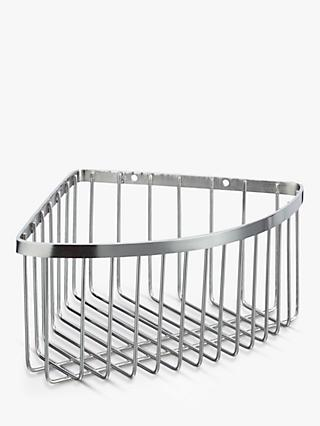John Lewis   Partners Stainless Steel Deep Corner Shower Basket 4f03a05b68cc4