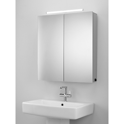 Image of John Lewis & Partners Debut Double Mirrored Illuminated Bathroom Cabinet