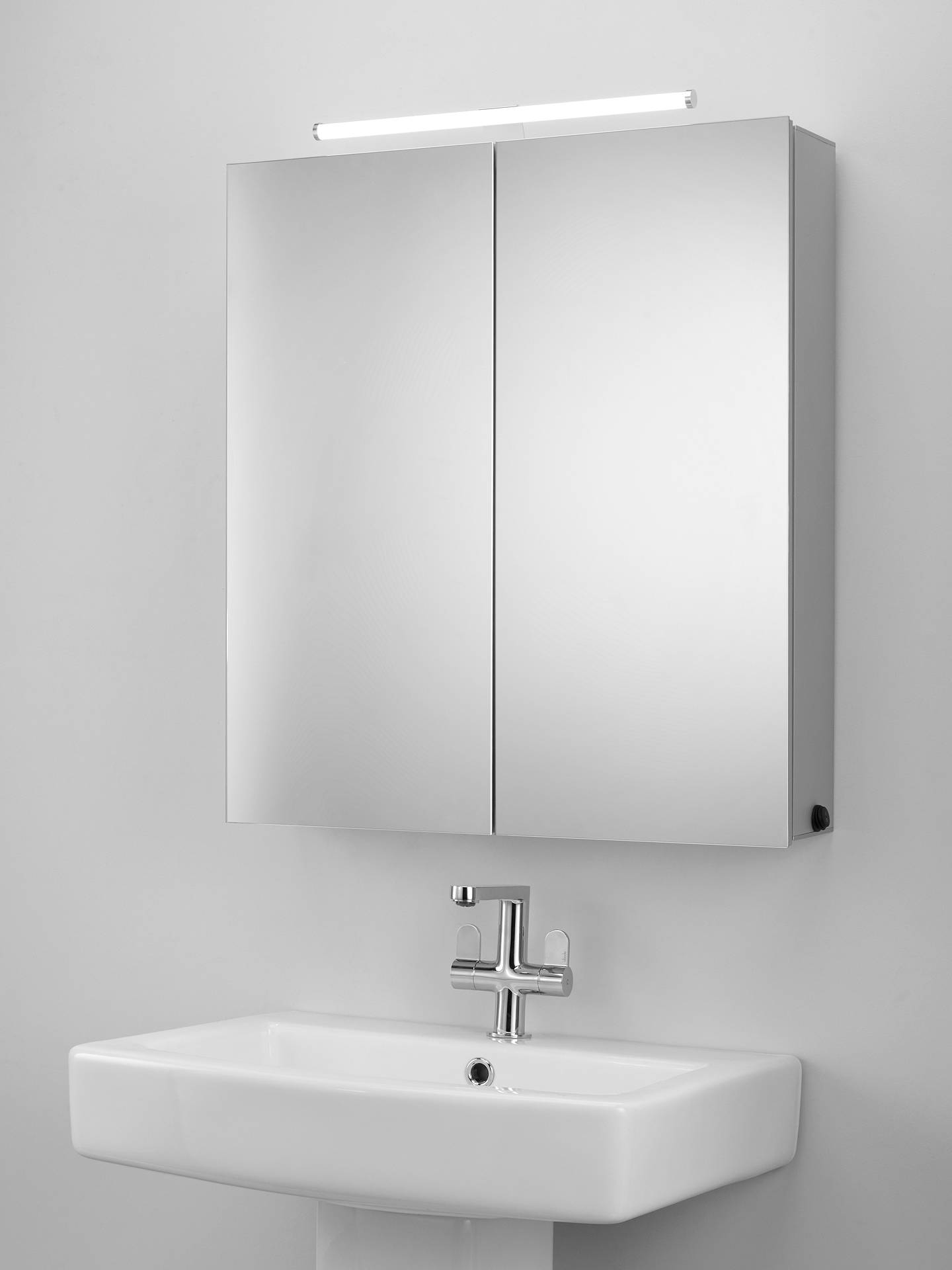 John Lewis Partners Debut Double Mirrored Illuminated Bathroom Cabinet Online At Johnlewis