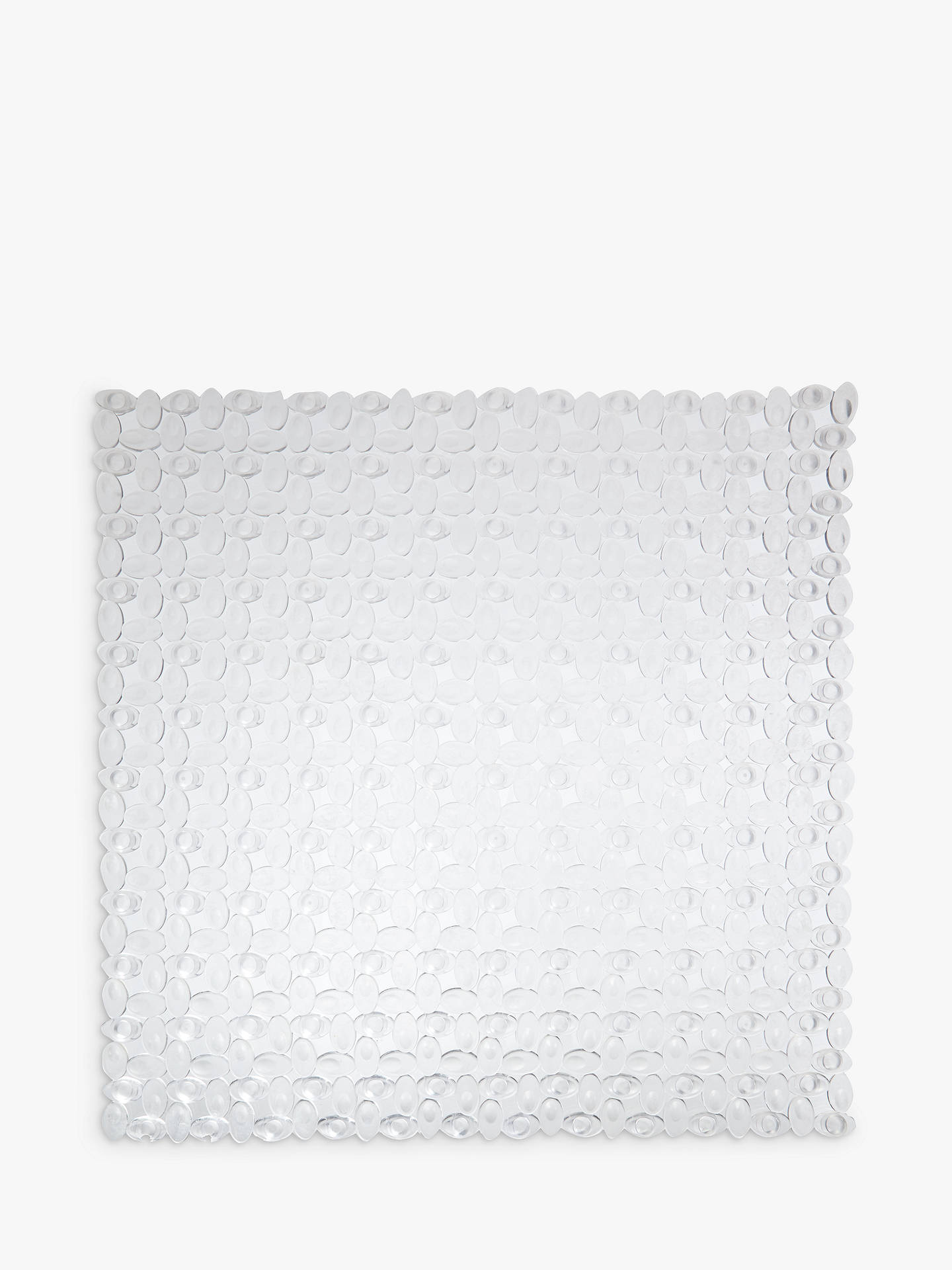 Buy John Lewis & Partners Pebbles Square Shower Mat, Clear Online at johnlewis.com