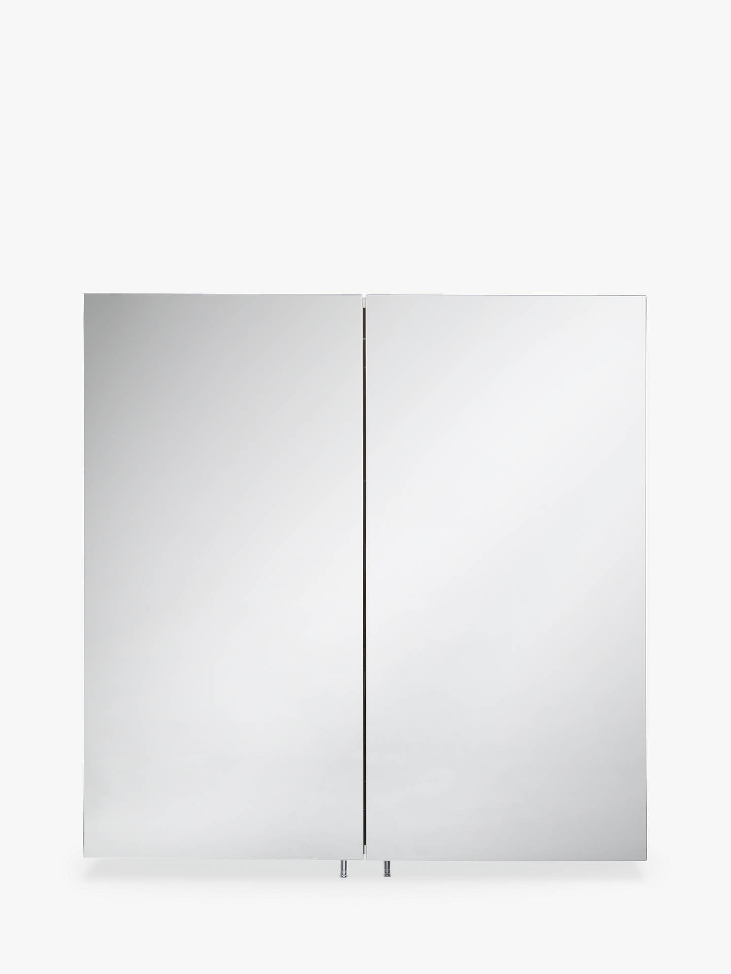 John Lewis Partners Premium Double Mirrored Stainless Steel Bathroom Cabinet At Johnlewis