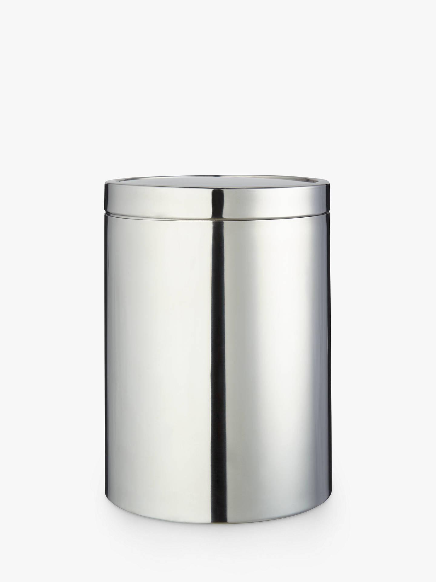 john lewis partners stainless steel swing bathroom bin. Black Bedroom Furniture Sets. Home Design Ideas