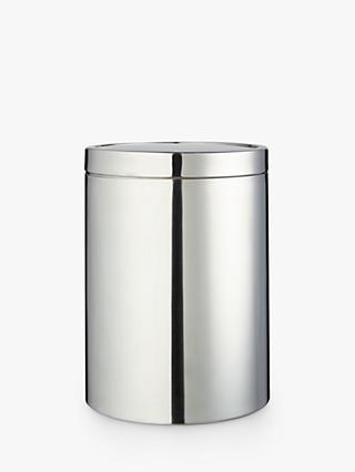 John Lewis Partners Stainless Steel Swing Bathroom Bin Silver