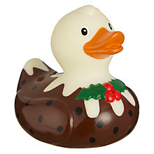 Buy John Lewis Christmas Pudding Rubber Duck, Multi Online at johnlewis.com