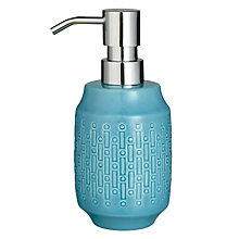 Buy John Lewis Morse Pump Dispenser, Teal Online at johnlewis.com
