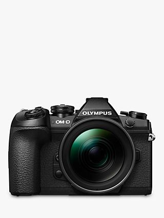 "Olympus OM-D E-M1 Mark II Compact System Camera with 12-40mm PRO Lens, 4K UHD, 20.4MP, Wi-Fi, EVF, 3"" Vari-angle LCD Touch Screen"