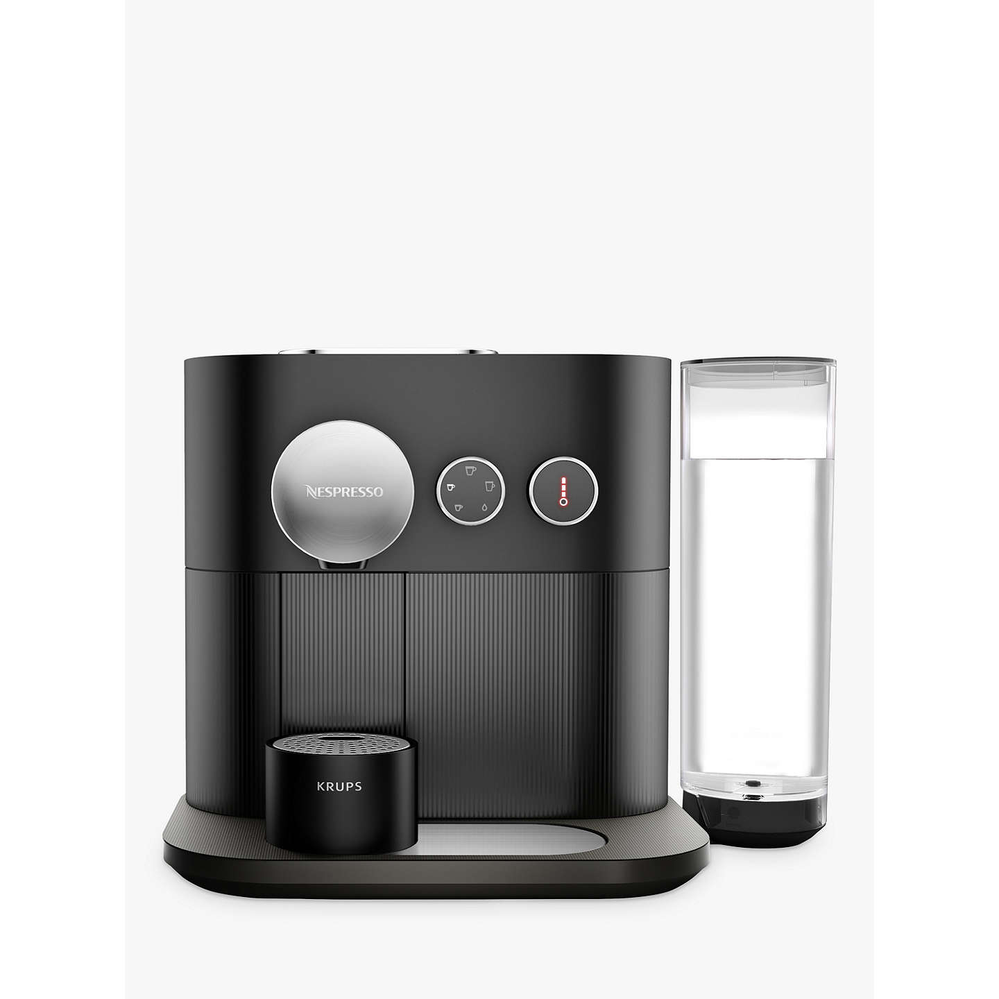 nespresso expert coffee machine by krups matt black at john lewis. Black Bedroom Furniture Sets. Home Design Ideas