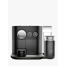 Buy Nespresso Expert Coffee Machine with Aeroccino by KRUPS, Matt Black Online at johnlewis.com