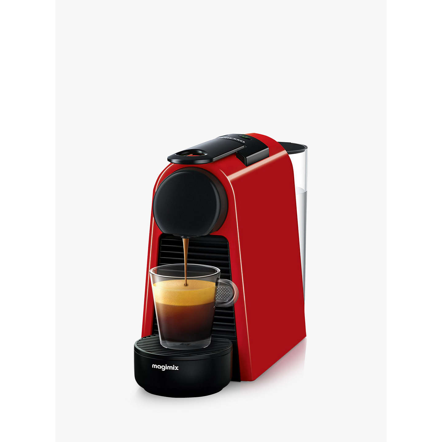 Nespresso Essenza Mini Coffee Machine By Magimix Red Online At Johnlewis