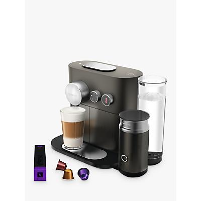 Nespresso Expert M500 Coffee Machine with Aeroccino by Magimix, Grey