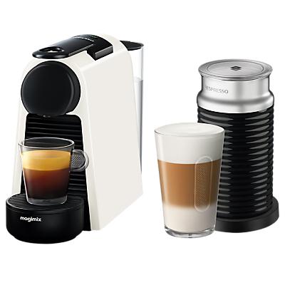 Nespresso Essenza Mini Coffee Machine with Aeroccino by Magimix