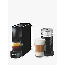 Buy Nespresso Essenza Mini Coffee Machine with Aeroccino by KRUPS, Black Online at johnlewis.com