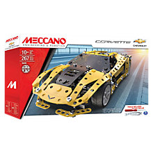 Buy Meccano Chevrolet Corvette Model Set Online at johnlewis.com