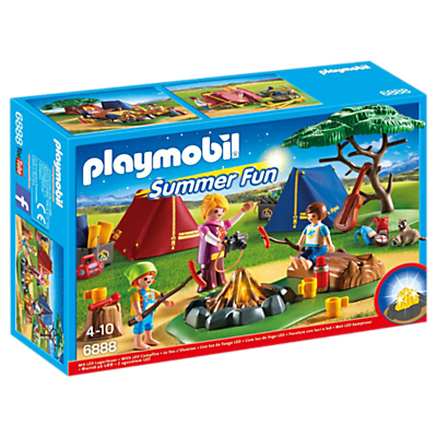 Image of Playmobil Summer Campsite With LED Fire