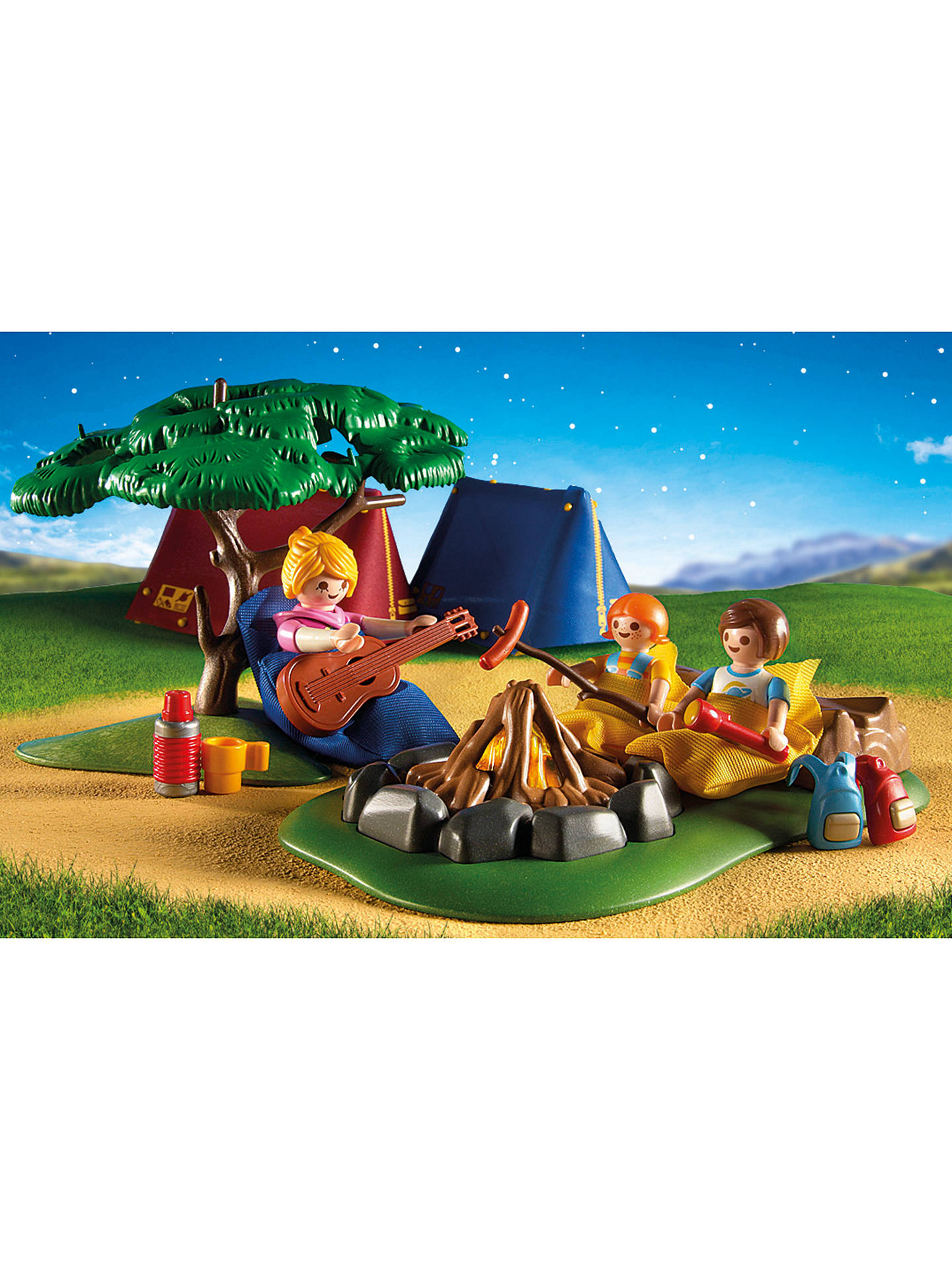 Buy Playmobil Summer Campsite with LED Fire Online at johnlewis.com