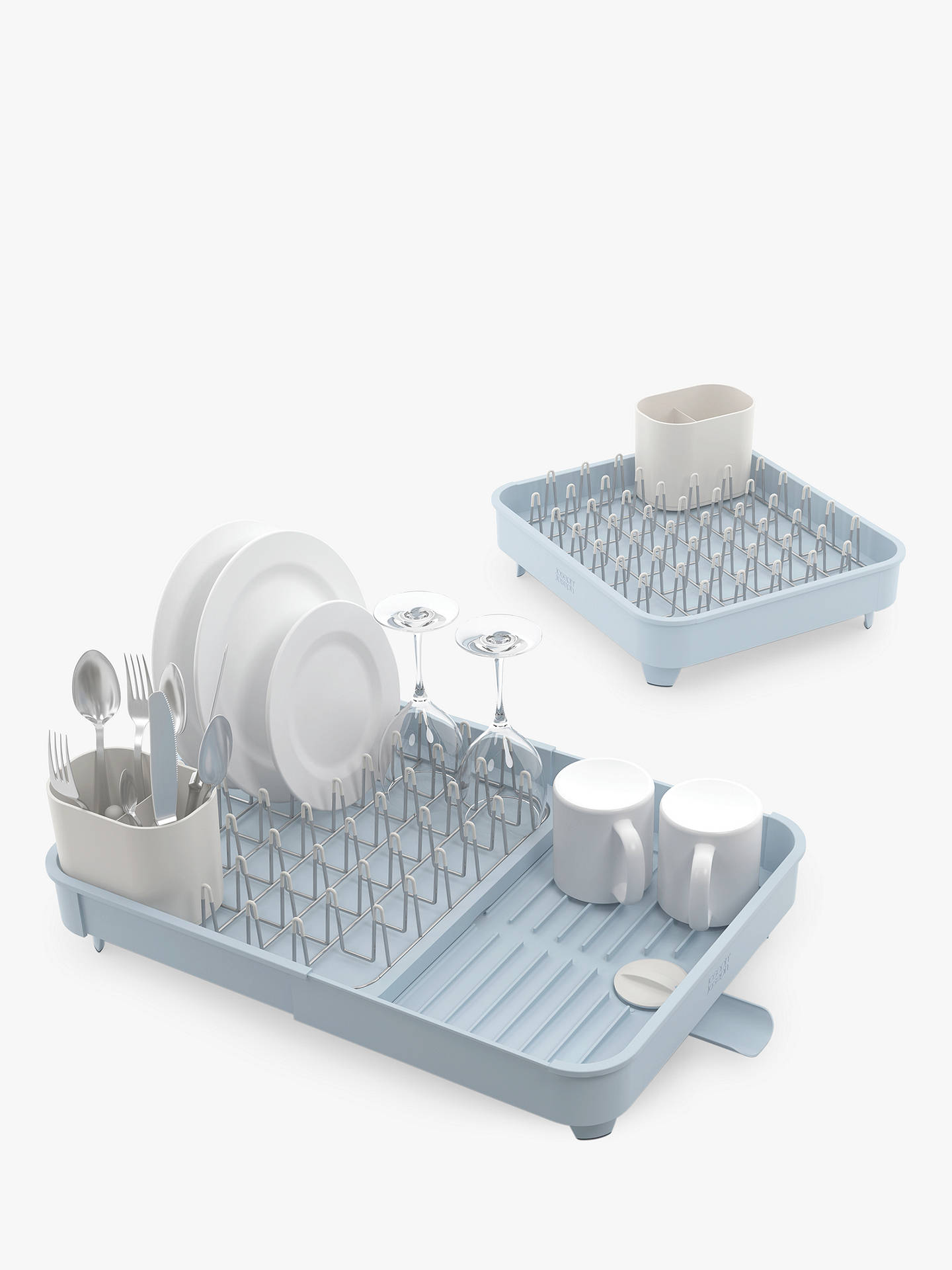 Dish Rack.Joseph Joseph Extend Expandable Dish Rack Blue Grey