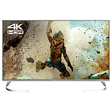 "Buy Panasonic 40EX700B LED HDR 4K Ultra HD Smart TV, 40"" with Freeview Play, Slim Metallic Bezel & Switch Design Adjustable Stand, Silver, Ultra HD Certified Online at johnlewis.com"