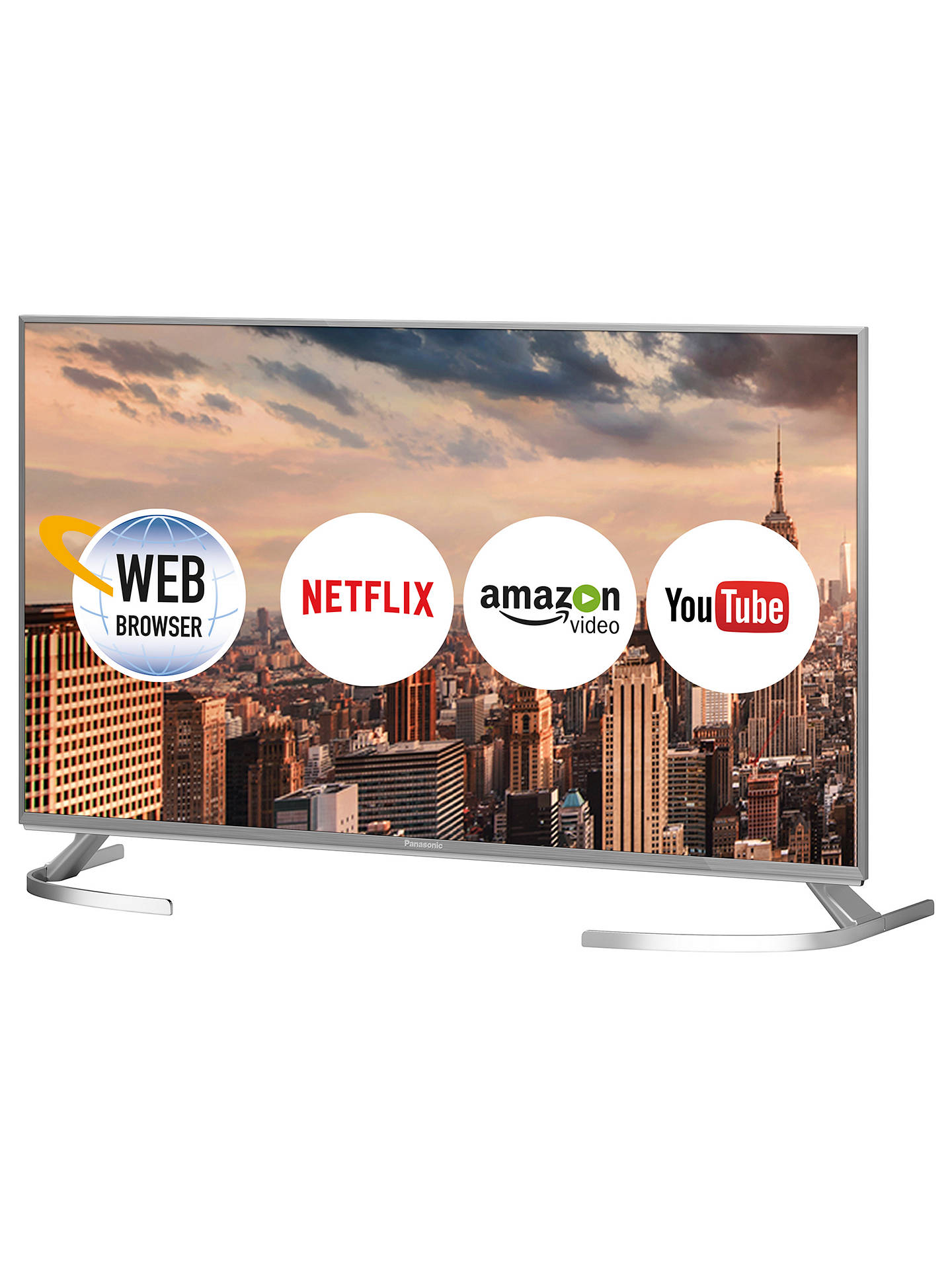 "BuyPanasonic TX-40EX700B LED HDR 4K Ultra HD Smart TV, 40"" with Freeview Play, Slim Metallic Bezel & Switch Design Adjustable Stand, Ultra HD Certified, Silver Online at johnlewis.com"