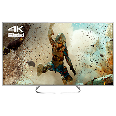 Panasonic 50EX700B LED HDR 4K Ultra HD Smart TV, 50 with Freeview Play, Slim Metallic Bezel & Switch Design Adjustable Stand, Silver, Ultra HD Certified