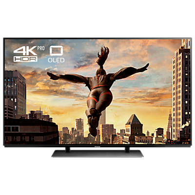 Panasonic 55EZ952B OLED HDR 4K Ultra HD Smart TV, 55 with Freeview Play & Super Slim Design, Black, Ultra HD Premium Certified