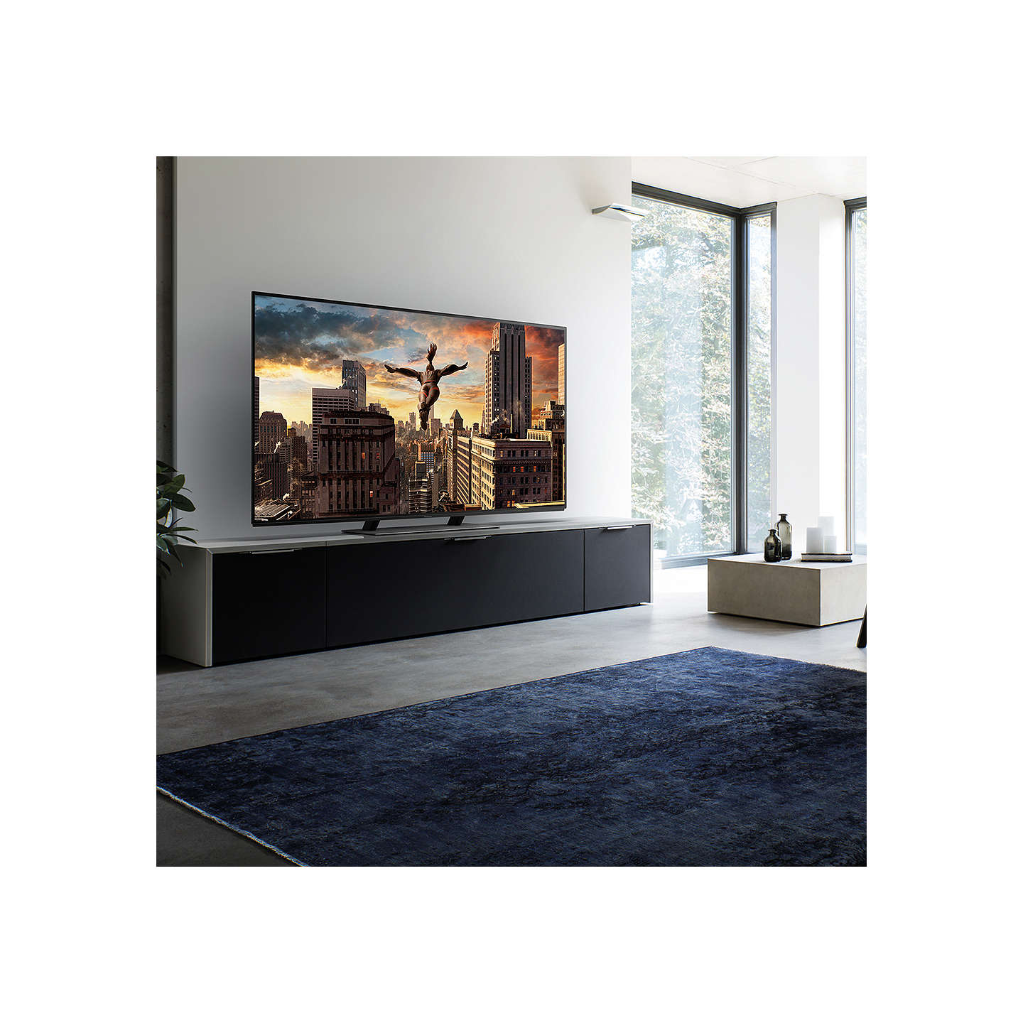 "BuyPanasonic TX-55EZ952B OLED HDR 4K Ultra HD Smart TV, 55"" with Freeview Play & Super Slim Design, Ultra HD Premium Certified, Black Online at johnlewis.com"