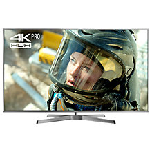 "Buy Panasonic 58EX750B LED HDR 4K Ultra HD 3D Smart TV, 58"" with Freeview Play/Freesat HD & Height Adjustable Swivel Stand, Silver Online at johnlewis.com"