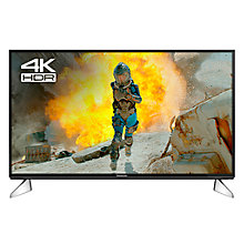 "Buy Panasonic 40EX600B LED HDR 4K Ultra HD Smart TV, 40"" with Freeview Play & Switch Design Adjustable Stand, Black & Silver Online at johnlewis.com"
