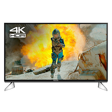 "Buy Panasonic 40EX600B LED HDR 4K Ultra HD Smart TV, 40"" with Freeview Play & Switch Design Adjustable Stand, Ultra HD Certified, Black & Silver Online at johnlewis.com"