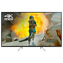 "Buy Panasonic 49EX600B LED HDR 4K Ultra HD Smart TV, 49"" with Freeview Play & Switch Design Adjustable Stand, Black & Silver Online at johnlewis.com"