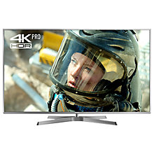 "Buy Panasonic 50EX750B LED HDR 4K Ultra HD 3D Smart TV, 50"" with Freeview Play/Freesat HD & Height Adjustable Swivel Stand, Silver Online at johnlewis.com"