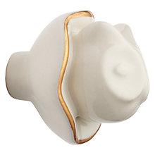Buy John Lewis Wise Owl Ceramic Cupboard Knob, Cream Online at johnlewis.com