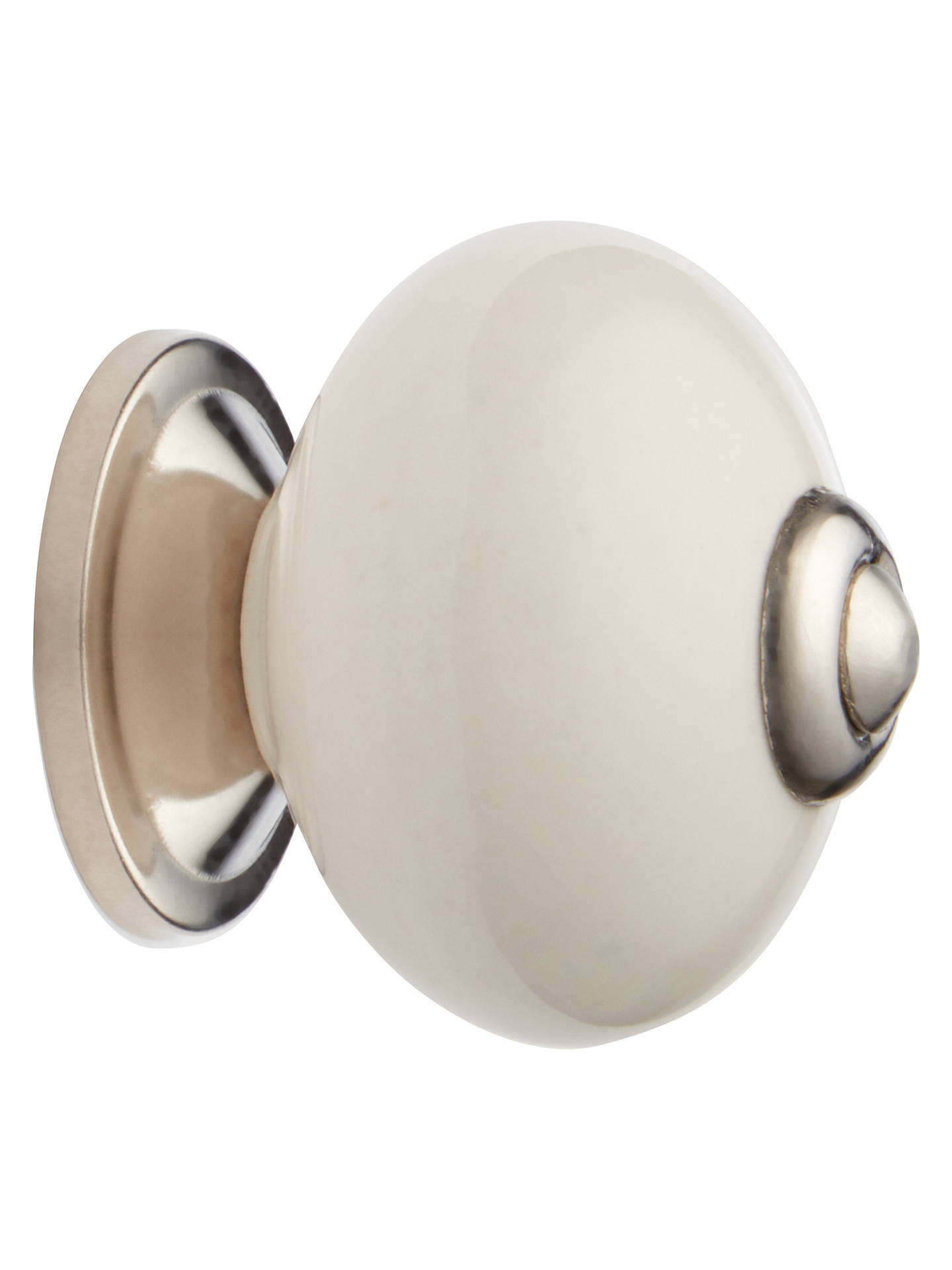 Buy John Lewis & Partners Ceramic Bon Bon Cupboard Knob, Cream Online at johnlewis.com
