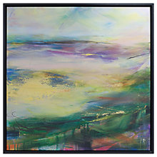 Buy Lesley Birch - Soft Winds In Colour Framed Canvas, 90 x 90cm Online at johnlewis.com