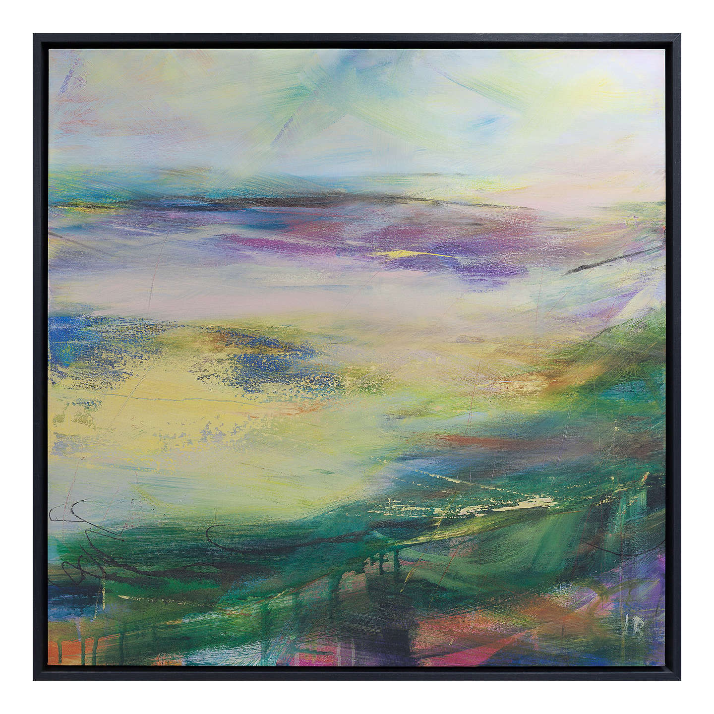 Lesley Birch Soft Winds In Colour Framed Canvas Print