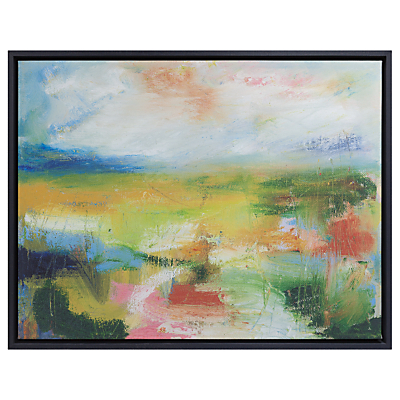 Lesley Birch – A Green Landscape Framed Canvas Print, 60 x 73cm