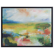 Buy Lesley Birch - A Green Landscape Framed Canvas Print, 60 x 73cm Online at johnlewis.com