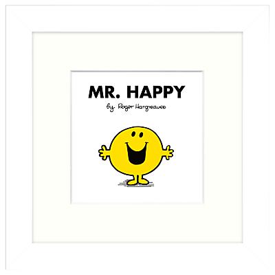 Roger Hargreaves – Mr. Men, Mr Happy Framed Print, 23.5 x 23.5cm