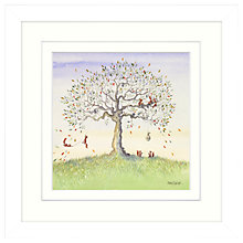 Buy Catherine Stephenson - Squirrel Story 1 Framed Print, 33 x 33cm Online at johnlewis.com