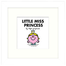 Buy Roger Hargreaves - Mr. Men, Little Miss Princess Framed Print, 23.5 x 23.5cm Online at johnlewis.com