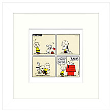 Buy Peanuts - Snoopy Happiness Framed Print, 23 x 23cm Online at johnlewis.com