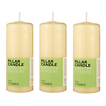 Buy John Lewis The Basics Medium Pillar Candles, Ivory, Set of 3 Online at johnlewis.com