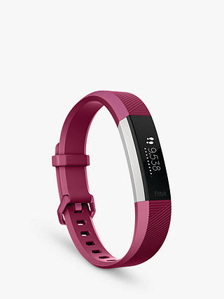 Buy Fitbit Alta HR Heart Rate and Fitness Tracker, Small, Fuchsia Online at johnlewis.com