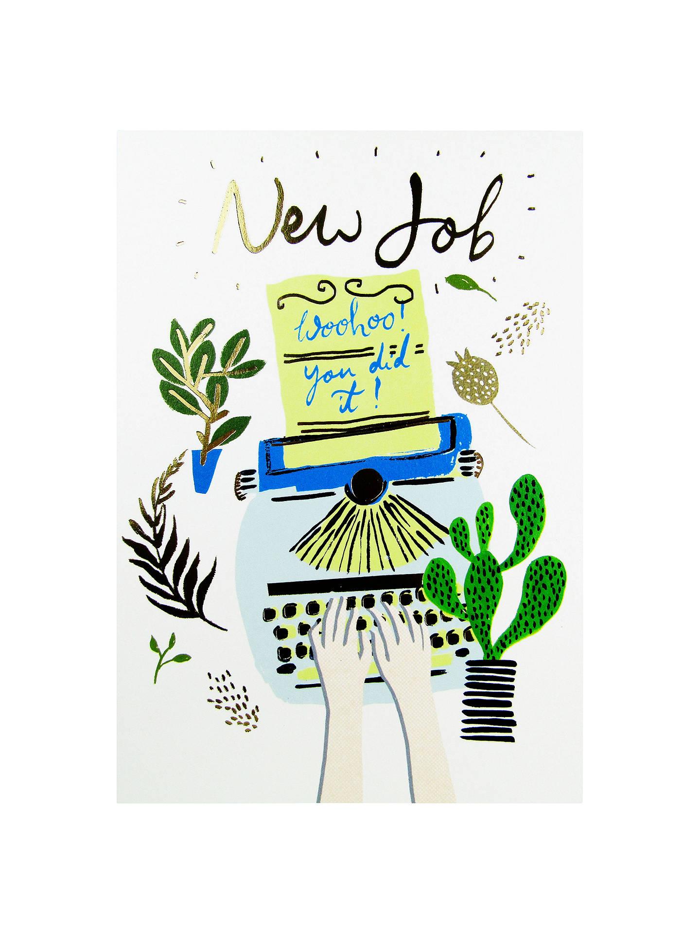 woodmansterne typewriter new job greeting card at john