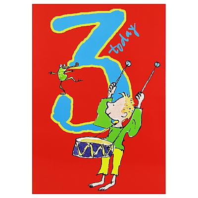 Woodmansterne Boy Plays Drums 3rd Birthday Card