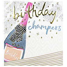 Buy The Proper Mail Company Champagne Bottle Birthday Card Online at johnlewis.com