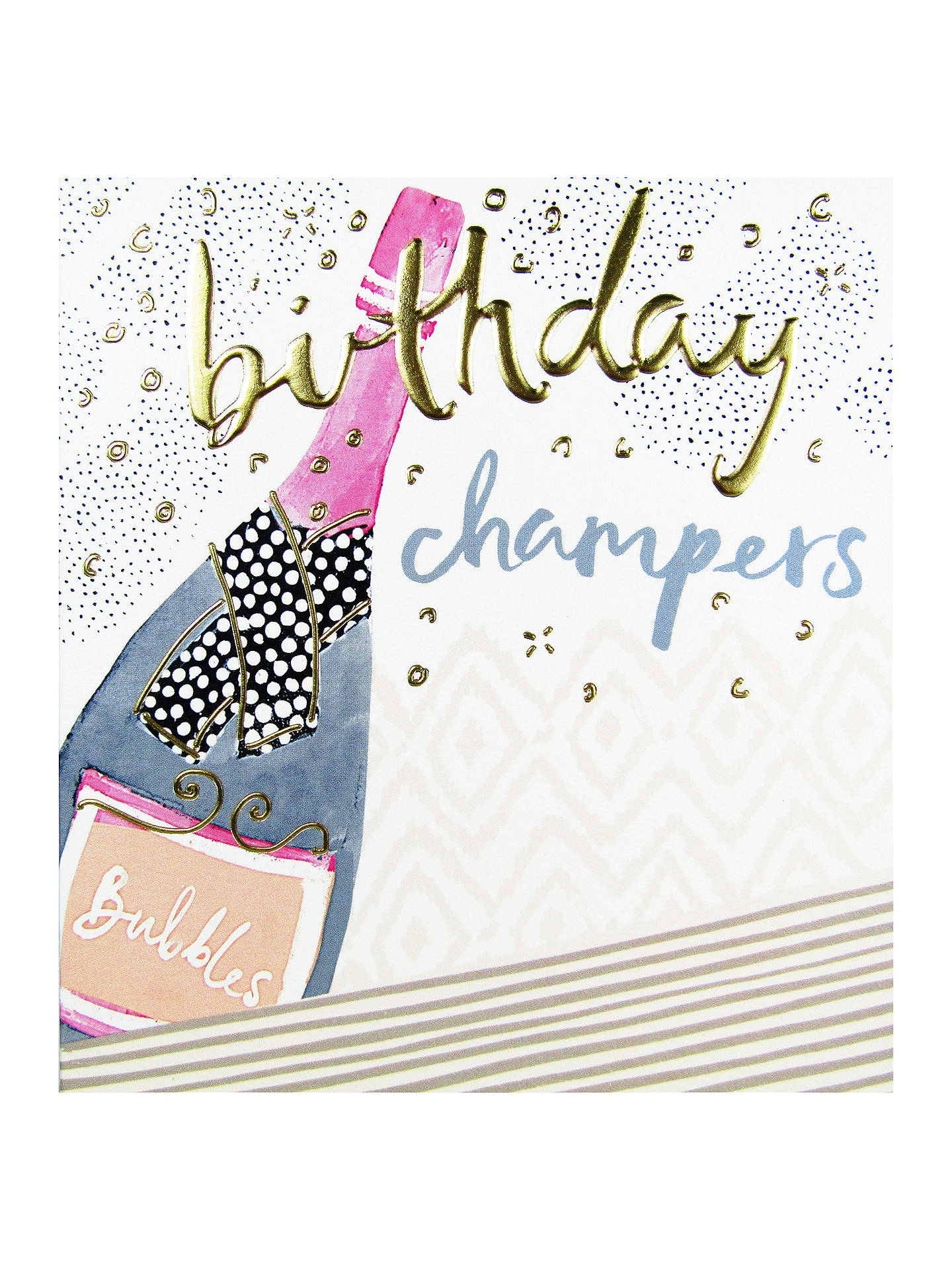 BuyThe Proper Mail Company Champagne Bottle Birthday Card Online At Johnlewis