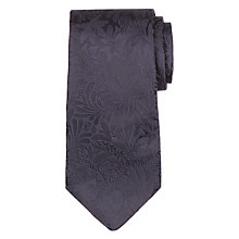 Buy Paul Smith Tonal Floral Embroidery Tie, Navy Online at johnlewis.com