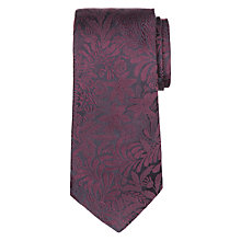 Buy Paul Smith Tonal Floral Embroidery Silk Tie, Plum Online at johnlewis.com