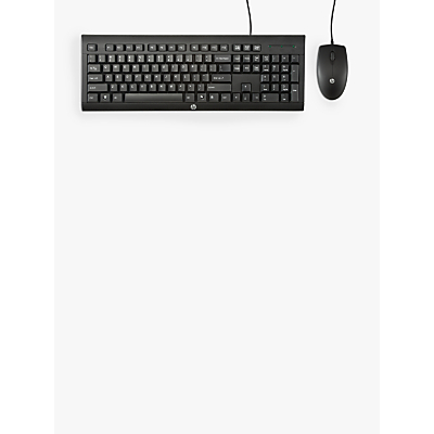 HP C2500 Wired Keyboard and Mouse Combo, Black
