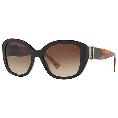 Burberry BE4248 Square Sunglasses, Black/Brown Gradient
